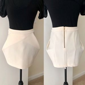 Nasty Gal Cream Mini Skirt